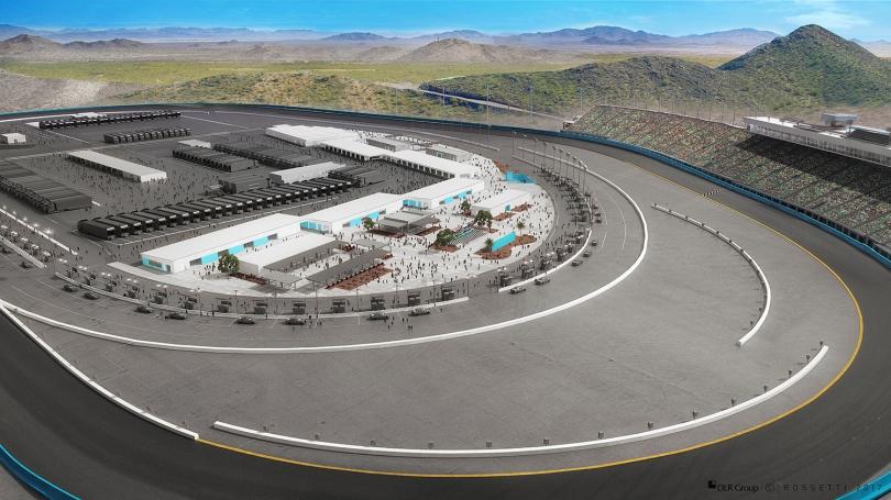 El Fan Zone será más accesible para los aficionados; el Círculo de Ganadores estará en la parte central. FOTO: Phoenix Raceway