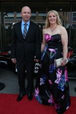 Pippa Mann y su esposo Robert Gue (FOTO: Chris Jones/INDYCAR)