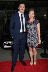 JR Hildebrand y su esposa Kristin (FOTO: Chris Jones/INDYCAR)