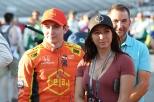Zach Veach y su novia Kate (FOTO: Chris Jones/IMS, LLC Photo)