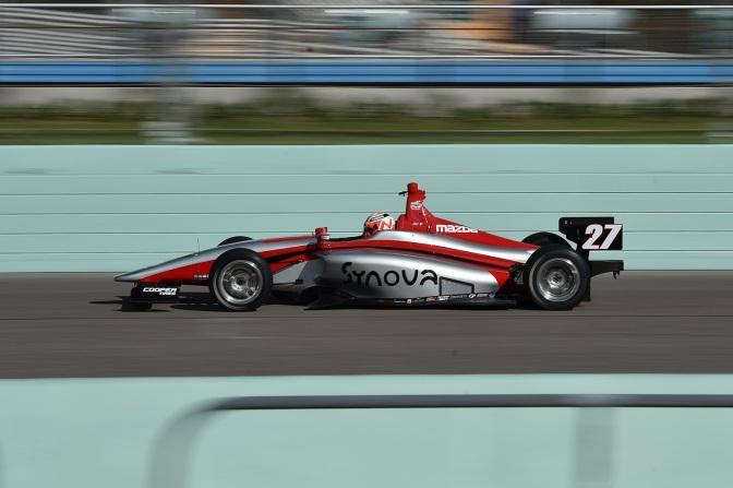 Lights: Jamin, el más veloz del test oval en Miami