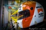 En la exhibición, también se mostraron réplicas de los cascos de los pilotos que corrieron para el equipo en los años 80 y 90; éste es de Rick Mears, quien portó los colores de Marlboro en 1991 y 1992.