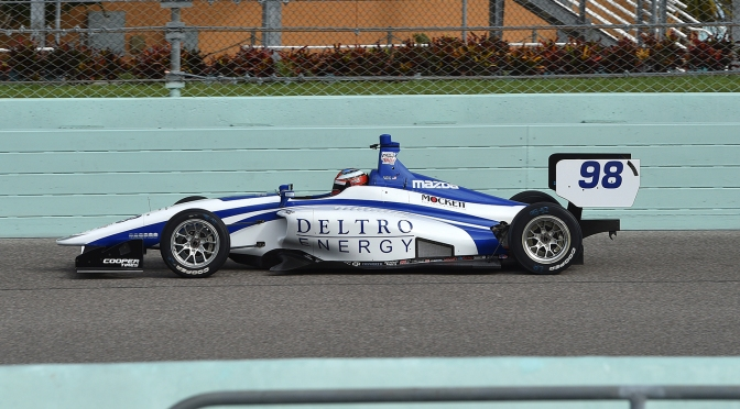 Herta domina test de jueves en Homestead