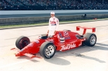 Siendo miembro del equipo del hijo del popular Andy Granatelli, Roberto Guerrero ganó su primera de dos competencias de CART en Phoenix, después de comenzar 22° (FOTO: IMS Photo)