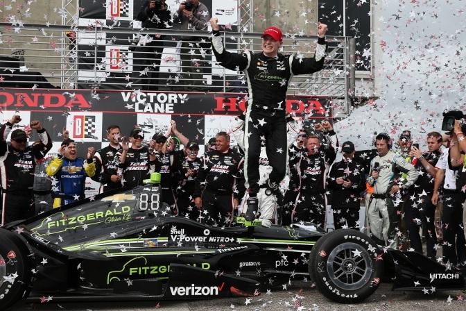 Primera victoria de Newgarden con Penske