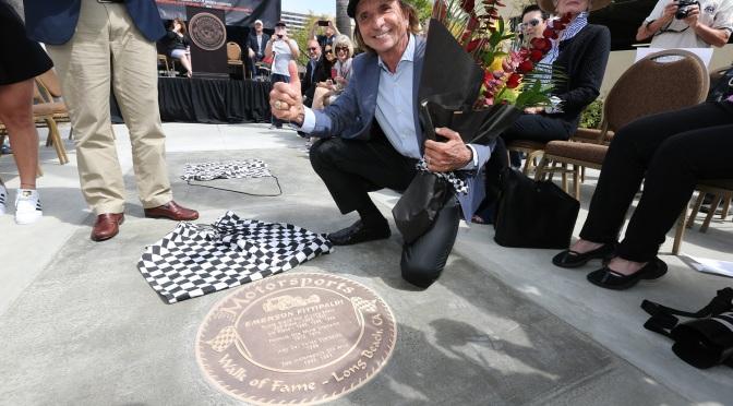 Fittipaldi y Kendall, al Paseo de la Fama de Long Beach
