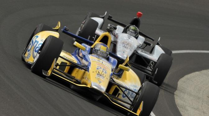 Marco Andretti y Kurt Busch (FOTO: Dan Boyd/INDYCAR)