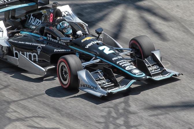 Suma Newgarden primer podium con Penske