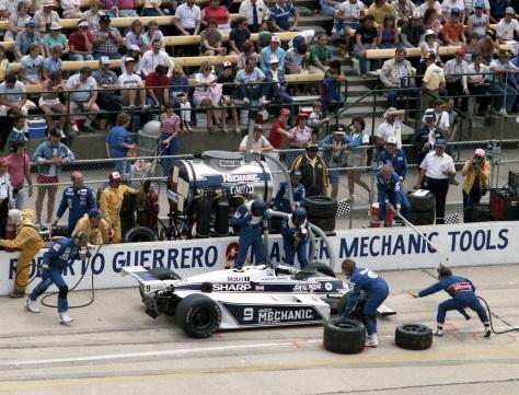 Con un March 84C-Cosworth DFX, el entonces debutante finalizó segundo en su presentación, en 1984 (FOTO: Indianapolis Motor Speedway)