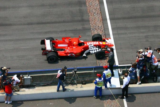 Schumacher en Indy (FOTO: Ron McQueeney/IMS Photo)