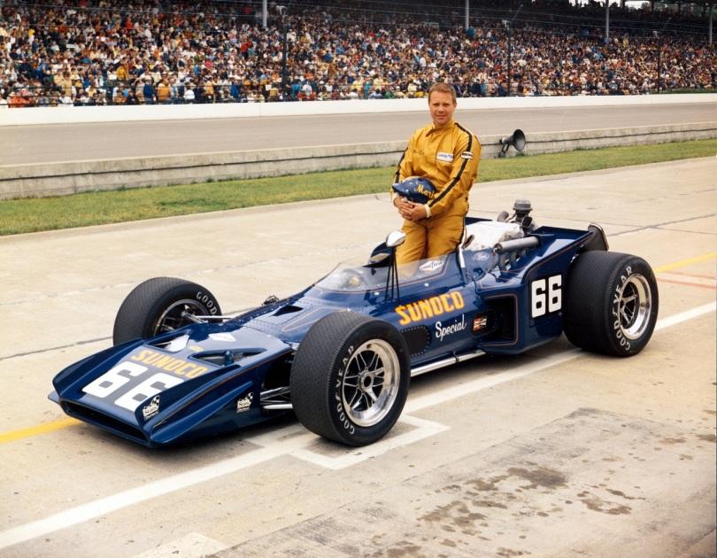 Durante su tercer año en la serie USAC, Mark Donohue le dio al equipo su primera pole en Sears Point (hoy Sonoma) Raceway, en 1970, aunque no pudo arrancar. El vehículo era un Lola/Chevy (FOTO: IMS Photo)
