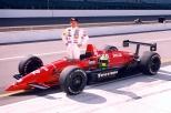 Hideshi Matsuda fue otro de los que buscó hacer una trayectoria antes y durante la guerra civil en categorías; arrancó en el Brickyard en cuatro oportunidades, concluyendo octavo en 1996. Solo tuvo cinco largadas combinadas (FOTO: Indianapolis Motor Speedway)