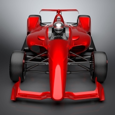 Imagen frontal del kit para superspeedways (FOTO: INDYCAR)
