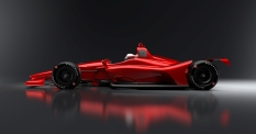 Imagen lateral del chassis para superspeedways (FOTO: INDYCAR)
