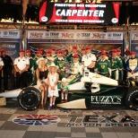 Dos de los tres triunfos del veterano estadounidense, así como cuatro de sus siete podiums, los ha conseguido con su propio equipo; el más reciente fue en Texas, en 2014 (FOTO: Chris Jones/INDYCAR)
