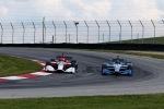 Montoya y Serviá efectuaron stints de cinco vueltas, con un auto adelante de otro e intercambiando lugares tras completar cinco vueltas (FOTO: Chris Jones/INDYCAR)