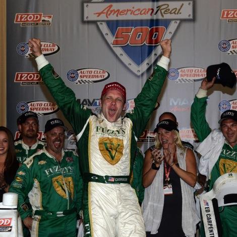 Carpenter ha sido parte de siete de las 66 victorias de Chevy desde 2012; su primera victoria fue en la final de aquel año, en Auto Club Speedway (FOTO: Archivo)