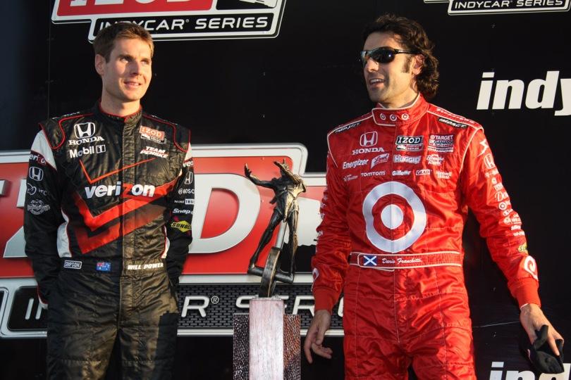 Al año siguiente, en 2011, se repitió la historia entre los dos pilotos; a pesar de las 11 unidades con las que aventajaba a Franchitti, un incidente en pits en Kentucky le arrebató el título a Power, quien terminó 18 detrás de Franchitti (FOTO: Dana Garrett/INDYCAR)
