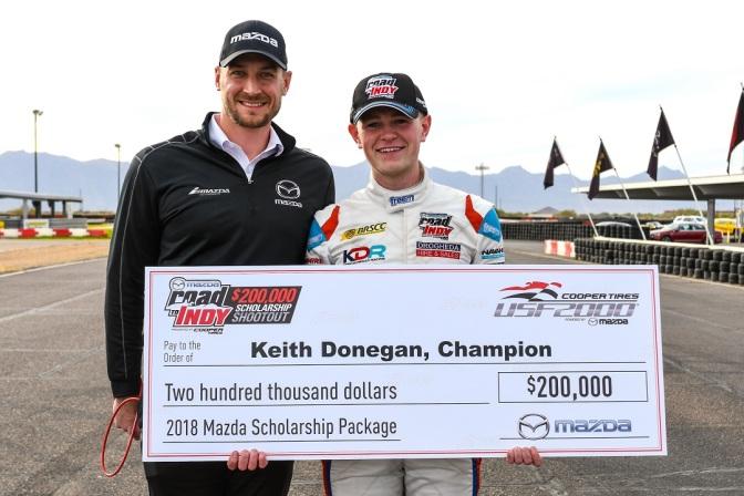 Keith Donegan gana beca para correr USF2000