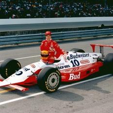 Pruett debutó en CART el 17 de abril de 1988 en Long Beach, manejando para Dick Simon; sin embargo, solo hizo tres arranques en ese año, los últimos dos perteneciendo a Machinists Union Racing. No finalizó ningún evento (FOTO: IMS Photo)