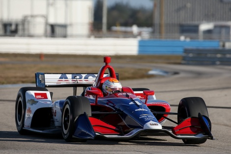 No. 4: Matheus Leist, AJ Foyt Racing Dallara-Chevrolet (FOTO: Joe Skibisnki/IMS Photo)