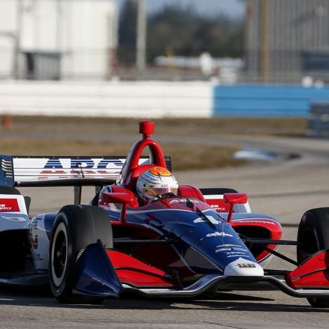 No. 4: Matheus Leist, AJ Foyt Racing Dallara-Chevrolet (FOTO: Joe Skibisnki/IMS Photo)