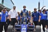 Matheus Leist hace su debut en la IndyCar en 2018 con AJ Foyt Racing. Luego de dos años en Europa, el brasileño firmó con la organización británica para correr en Indy Lights en 2017; ahí, sumó victorias en Indianapolis, Road America y Iowa, que lo ayudaron a quedar en 4° posición general (FOTO: Chris Owens/IMS Photo)