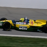 En su primer año, el joven piloto llegó en segunda posición en la Indy 500, manejando para Derrick Walker; fue su única participación en la gran carrera (FOTO: IMS Photo)
