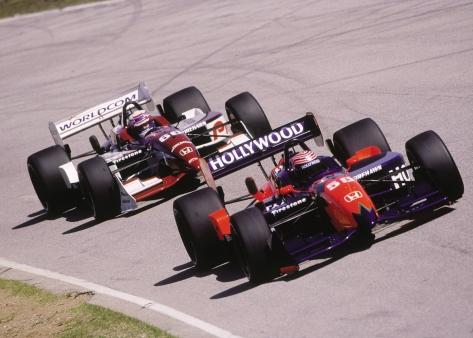 Kanaan y Zanardi (FOTO: Honda Racing)