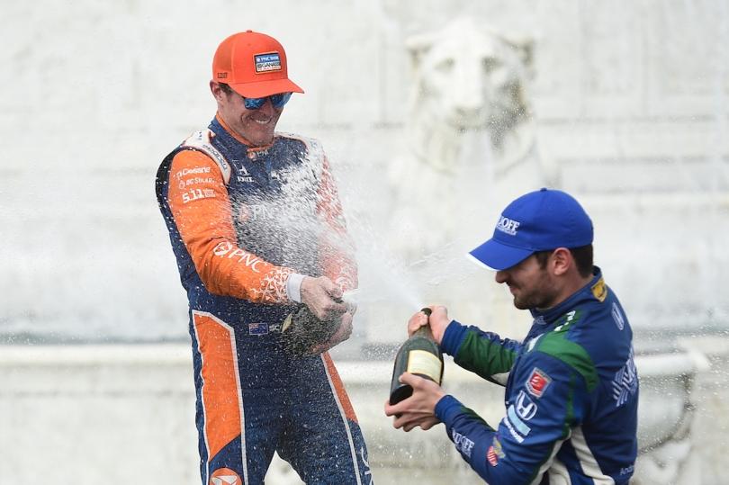 Dixon y Rossi encabezan un grupo de cuatro contendientes al título para el cierre de 2018, aunque ambos son los únicos con mayor probabilidad de convertirse en monarcas de la serie (FOTO: Chris Owens/IMS, LLC Photo)
