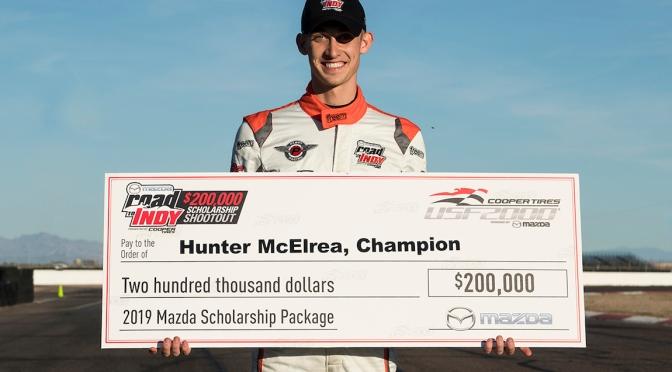 Hunter McElrea gana beca para USF2000