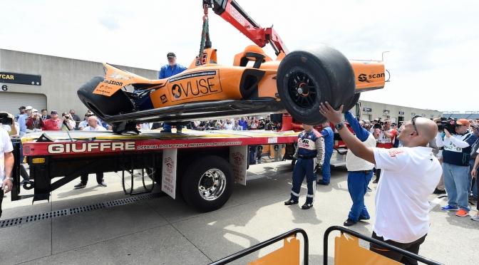Alonso sufre accidente en prácticas