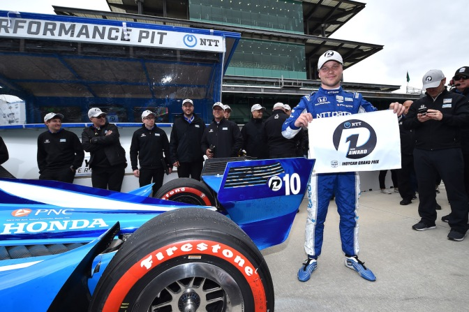 Logra Rosenqvist primera pole en IndyCar