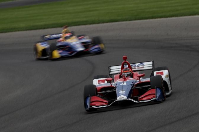 Leist también consiguió primer Top 5 en IndyCar