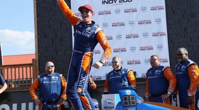 Dixon gana en Mid-Ohio en dramático final