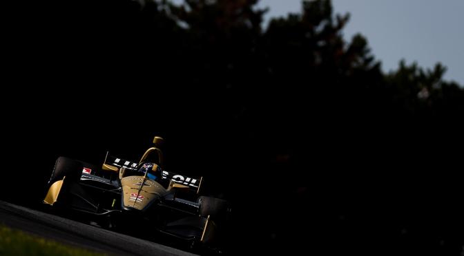 Felipe Nasr y Alex Palou, en los tests veraniegos en Mid-Ohio