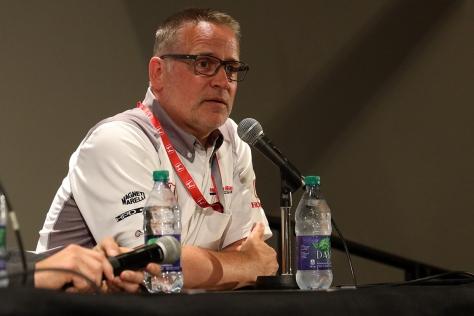 Ted Klaus tomó la dirección deportiva de Honda EUA este año (FOTO: Joe Skibinski/INDYCAR)