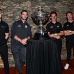 En 2019, cuatro pilotos llegaron a Laguna Seca con oportunidades para ganar el título. Eventualmente, Newgarden, quien llegaba como líder, derrotó a Pagenaud por 25 puntos, y a Rossi y Dixon por diferencia mayor, para convertirse en bicampeón (FOTO: Chris Jones/INDYCAR)