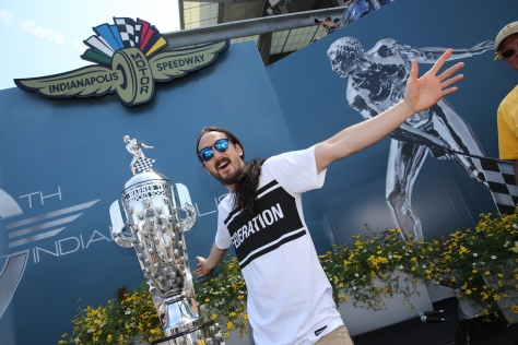 Steve Aoki en 2015 (FOTO: Chris Jones/INDYCAR)