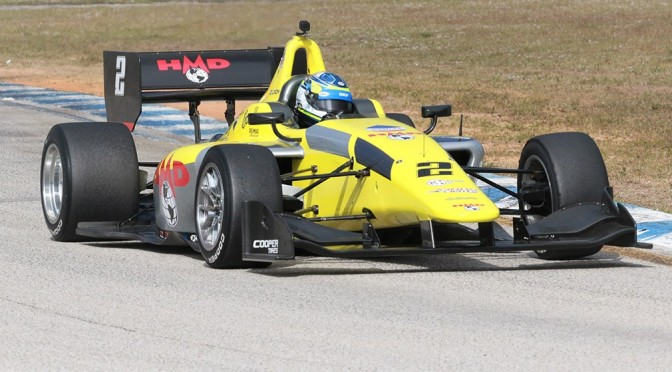 Lindh, al frente en tests finales de Indy Lights en 2019