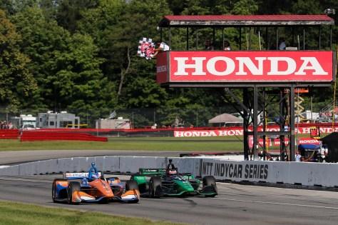 Scott Dixon superó a Felix Rosenqvist por 93 milésimas en la edición de 2019 (FOTO: Honda)