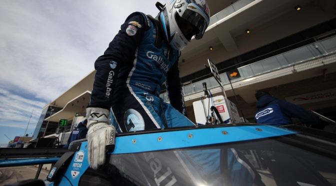 Max Chilton at the 2020 NTT IndyCar Series Testing