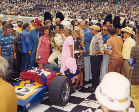 Unser ganando en 1970 (FOTO: Indianapolis Motor Speedway)