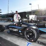 Foto oficial de Jimmie Johnson en su prueba con Chip Ganassi Racing en el Indianapolis Motor Speedway (FOTO: Chris Owens/INDYCAR)