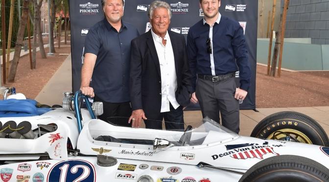 Mario, Michael y Marco Andretti (FOTO: Chris Owens/IndyCar)