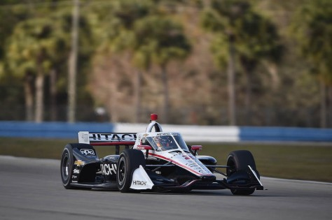 Josef Newgarden, No. 2 Chevrolet de Team Penske, en la tercera ronda de pruebas privadas de pretemporada de IndyCar, realizada el 1 de febrero en Sebring (FOTO: Chris Owens/INDYCAR)
