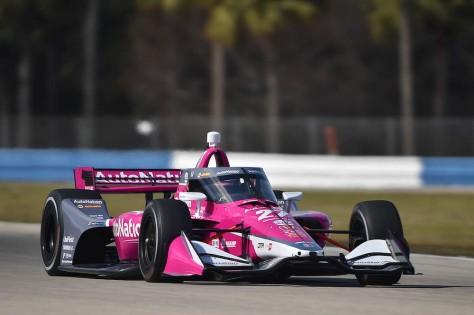 Alexander Rossi, No. 27 Honda de Andretti Autosport, en la tercera ronda de tz privadas de pretemporada de IndyCar, realizada el 1 de febrero en Sebring (FOTO: Chris Owens/INDYCAR)