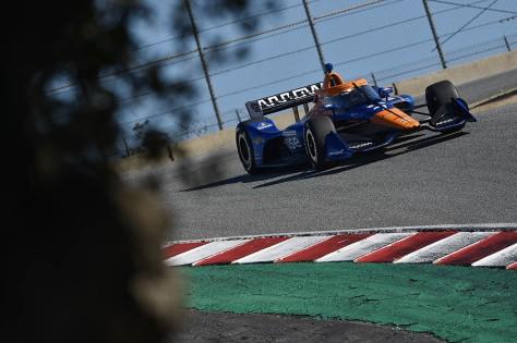 Felix Rosenqvist, No. 7 Chevrolet de ARROW McLaren SP, en la quinta ronda de pruebas privadas de pretemporada de IndyCar, realizada el 1 de marzo en Laguna Seca (FOTO: Chris Owens/INDYCAR)