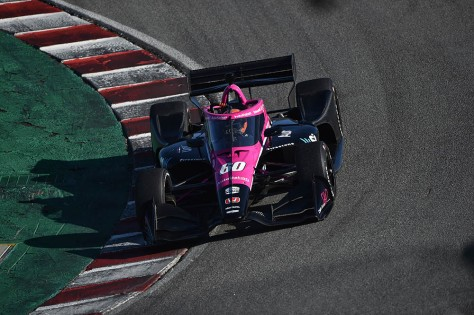 Helio Castroneves, No. 60 Honda de Meyer Shank Racing, en la quinta ronda de pruebas privadas de pretemporada de IndyCar, realizada el 1 de marzo en Laguna Seca (FOTO: Chris Owens/INDYCAR)