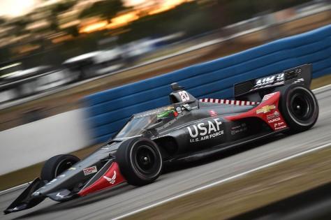 Conor Daly, No. 20 Chevrolet de Ed Carpenter Racing, en la tercera ronda de pruebas privadas de pretemporada de IndyCar, realizada el 1 de febrero en Sebring (FOTO: Chris Owens/INDYCAR)